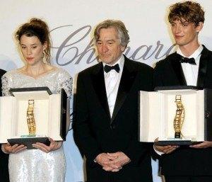 Robert de Niro, Niels Schneider y Astrid Berges-Frisbey - Premio Chopard